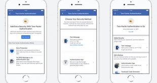 عملية التحقق بخطوتين على فيسبوك أصبحت لا تتطلب رقم هاتف