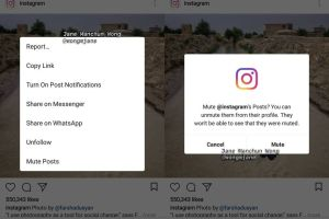 Instagram might be testing a mute button