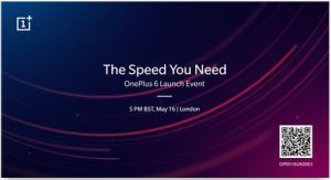 الكشف عن OnePlus 6 في لندن بتاريخ 16 مايو